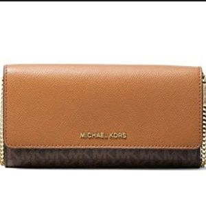 Michael Kors Convertible Chain Wallet Logo NWT
